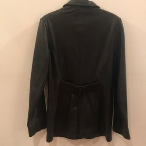 Kenneth Cole Jackets & Coats - Kenneth Cole Black Leather Tailored Jacket, Size S